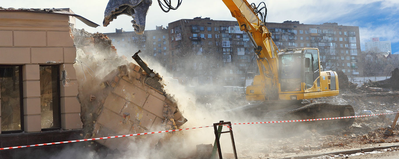 Demolition taking place